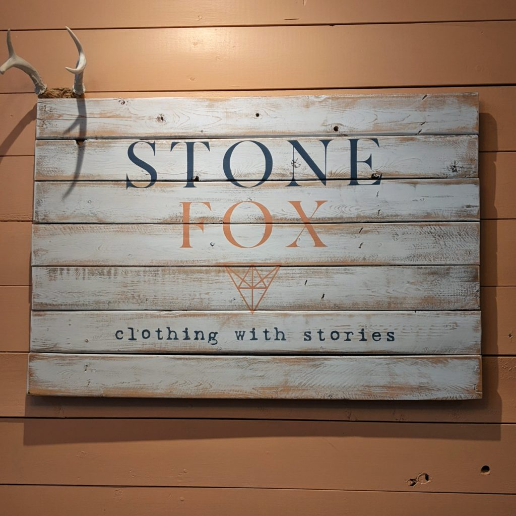 Stone Fox Store Logo clothing with stories
